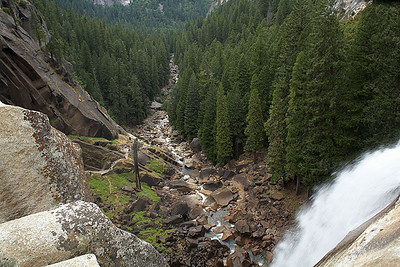 This is the view looking down from Vernal Falls.