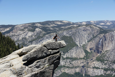 A Fool at Glacier Point, Yosemite