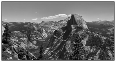 B&W of Half Dome As Viewed From Glacier Point,Yosemite