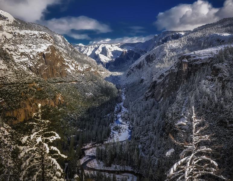 Highway 120 , Winter-Yosemite