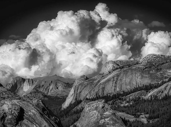 High Sierra Summer Afternoon Clouds