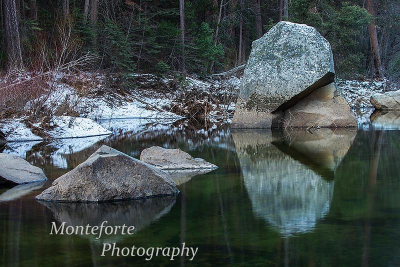 Rocks in Merced river Yosemite NP