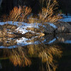 Reflection in Merced River, Yosemite National Park California