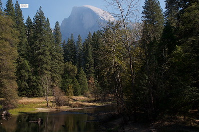 Half Dome from the Sentinel Bridge.