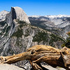 Half Dome seen from Glacier Point in Yosmite National Park