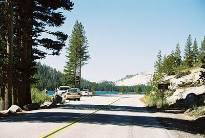 8/17/04 Continuing west on Hwy 120 (Tioga Rd) from Tuolumne Meadows to Tenaya Lake, Yosemite National Park