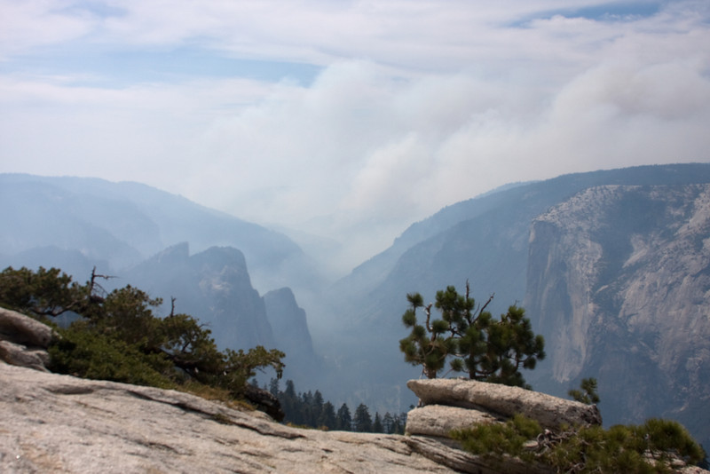 Yosemite National Park. The smoky valley from Sentinel Dome.<br /> <br /> Photo by Deb