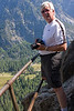 Yosemite National Park. Dennis has more confidence in the rail than I do.<br /> <br /> Photo by Deb