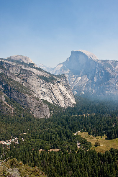 Yosemite National Park. The smoky view from Tunnel View<br /> <br /> Photo by Dennis