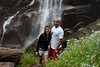 Nicole and Anthony on the hike to Vernal Falls. <br /> <br /> Photo by Deb