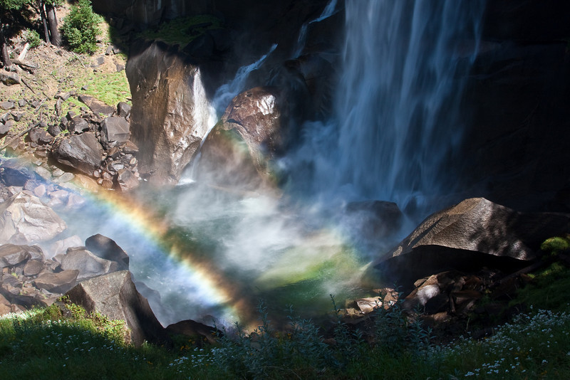 Yosemite National Park. Rainbow at the base of Vernal Falls<br /> <br /> Photo by Dennis