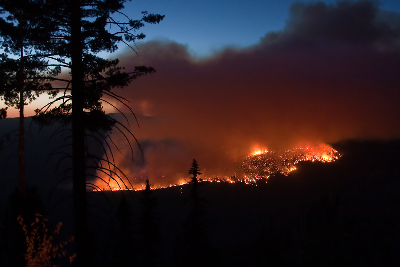 Yosemite National Park. The Big Meadow fire shot from the road to Glacier Point.<br /> <br /> Photo by Dennis