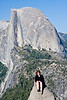 Yosemite National Park. Deb hanging out in front of Half Dome.<br /> <br /> Photo by Dennis