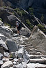 Yosemite National Park. Many stairs to Nevada Falls.<br /> <br /> Photo by Deb