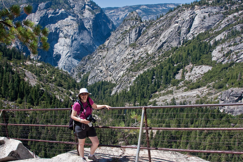 Yosemite National Park. Looking down the valley from the top of Nevada Falls.<br /> <br /> Photo by Dennis