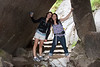Nicole and Cheryl on the hike to Vernal Falls. <br /> <br /> Photo by Deb