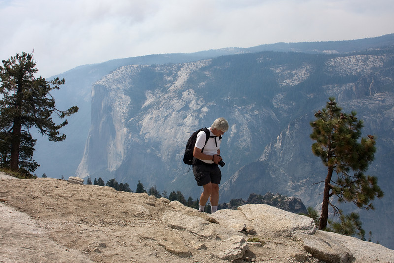 Yosemite National Park. Heading down Sentinel Dome<br /> <br /> Photo by Deb