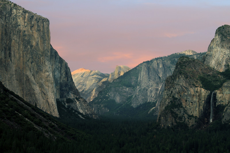 Sunset from Tunnel View