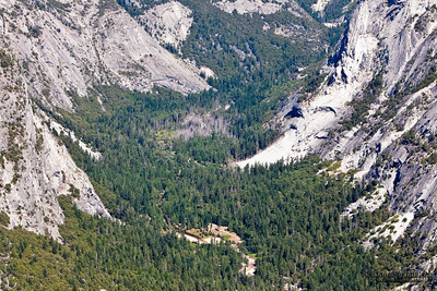 View from Glacier Point, which is the most spectacular viewpoint in Yosemite National Park, California, U.S.A.