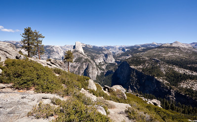View from Glacier Point, which is the most spectacular viewpoint. Yosemite National Park, California, U.S.A.