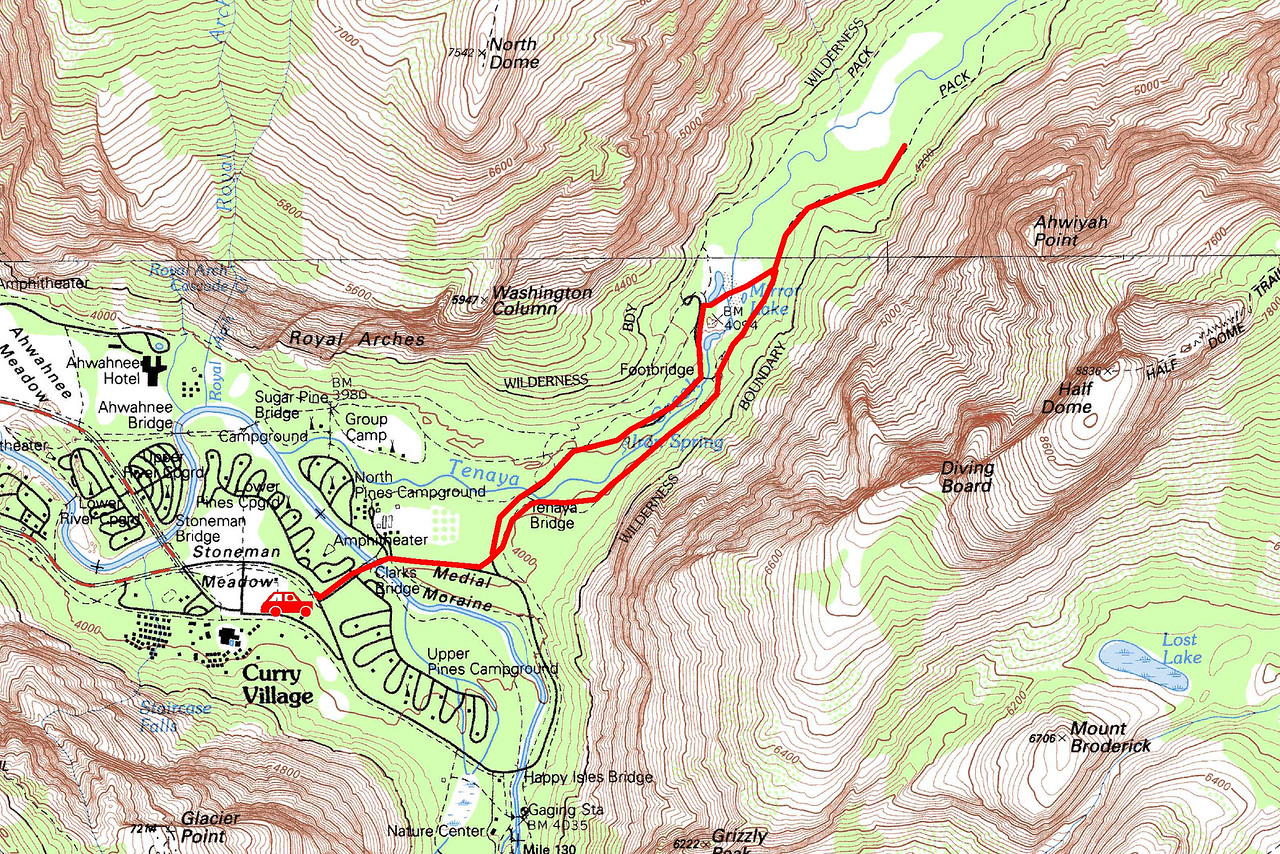 "Mirror Lake trip map. Left click on map then select ""Sizes -> Original"" in bottom right corner of screen to view full size."