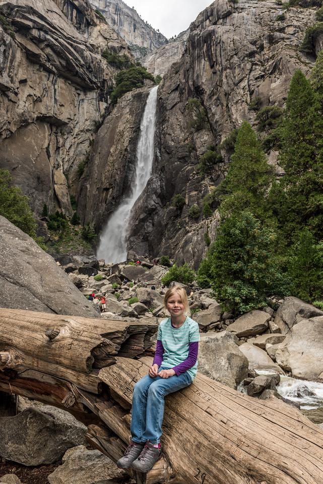 At Lower Yosemite Fall, Yosemite National Park.