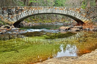 Reflections.... Pohono bridge Yosemite