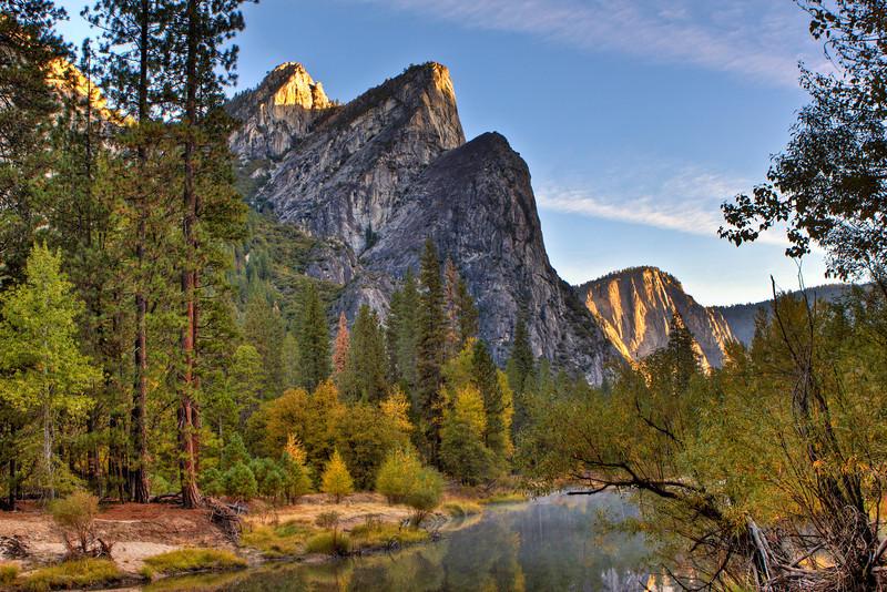The Three Brothers, Merced River, Yosemite Nat'l Park<br /> Oct 2012