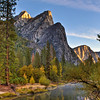 The Three Brothers, Merced River, Yosemite Nat'l Park<br /> Oct 2012