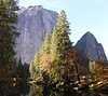 Cathedral Rocks and the Merced River at El Capitan Bridge