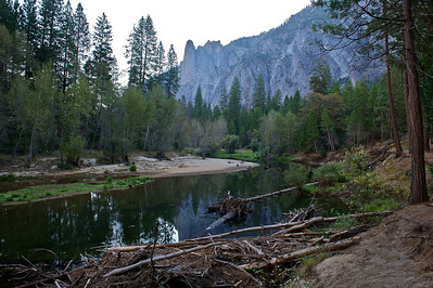 Cathedral Rocks and the Merced River, Yosemite National Park, California