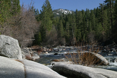 South Fork of the Merced River, near the town of Wawona.