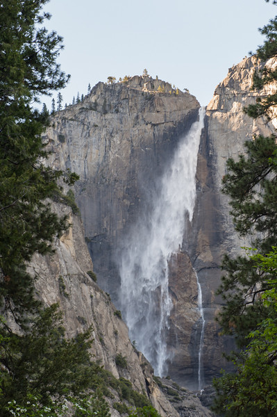 First view of Yosemite falls.