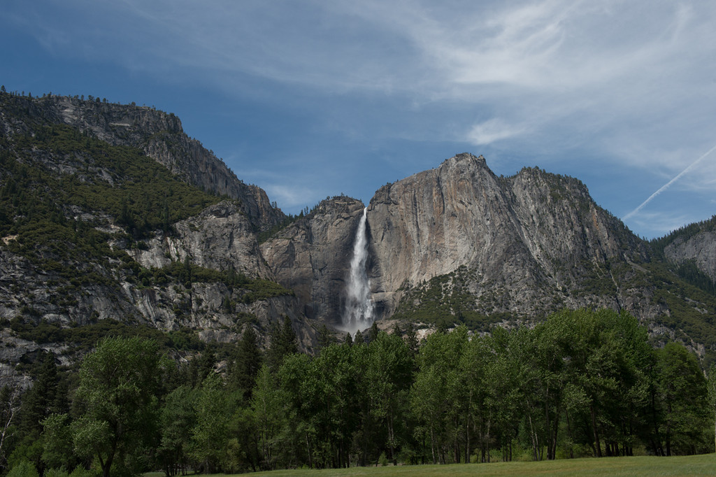 Final shot across the meadows to Yosemite falls.