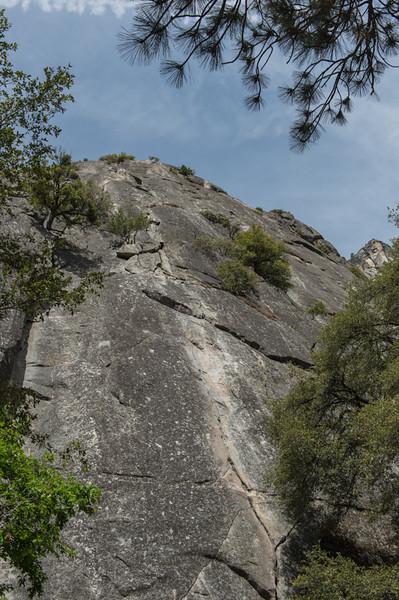 Popular rock climbing spot...
