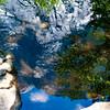 A closeup of Mirror Lake in Yosemite Valley.