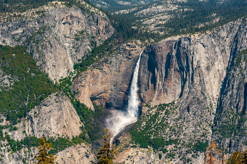 View of Yosemite Falls from Sentinel Dome.