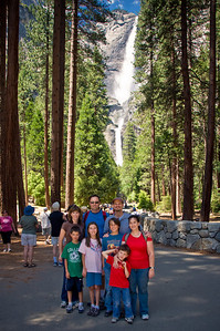 Yosemite 2010 - Sandy, Jay, Robb, Kevin, Katie, Harris, Michelle, and Park at Yosemite Falls.