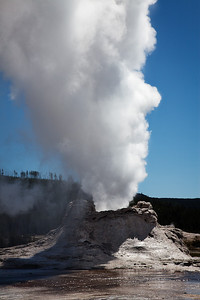 Castle Geyser, steam phase