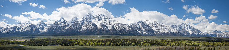 Tetons panorama from Teton Point turnout