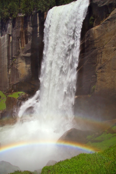 Rainbow below Vernal Falls