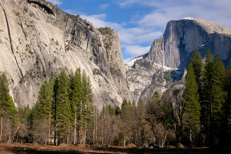 Half Dome in Winter Afternoon