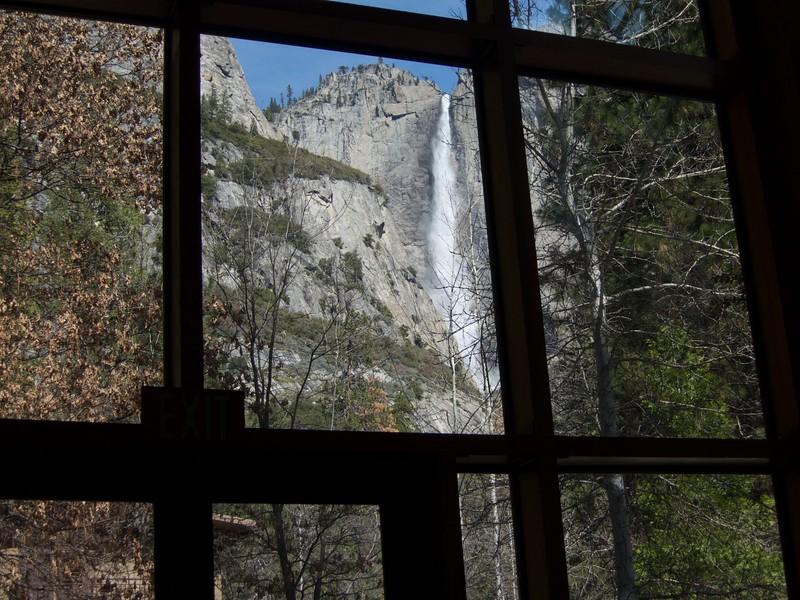 Yosemite Falls from the Mountain Room at Yosemite Lodge<br /> Yosemite - 2016-03-16 at 12-17-14
