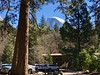 Half Dome over the Lodge