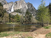 Yosemite Falls and Lost Arrow above the Sentinel Footbridge