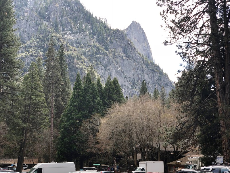 Sentinel Rock from behind the Village Store