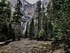 Yosemite falls and Yosemite Creek