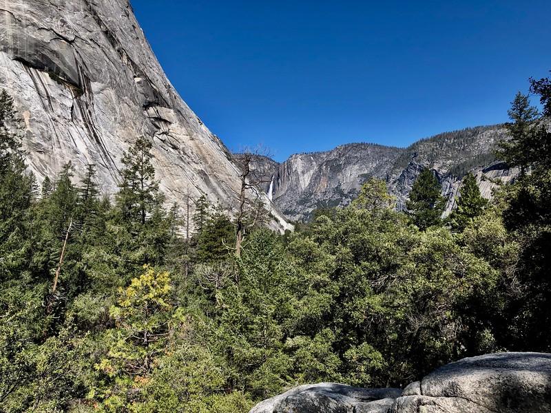 Yosemite Falls from the Vernal Falls Trail