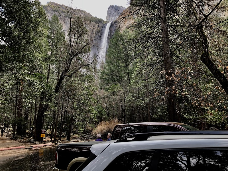Bridalveil Falls from the parking lot
