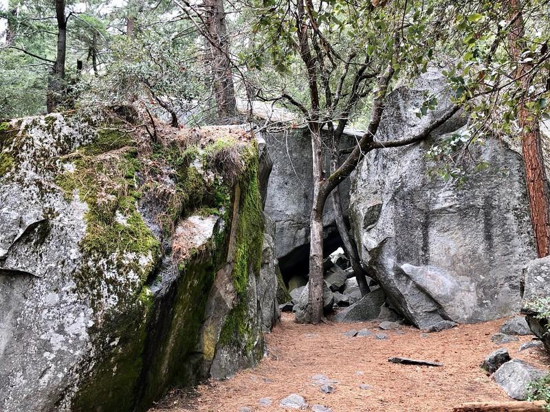 Rocks near the lower falls